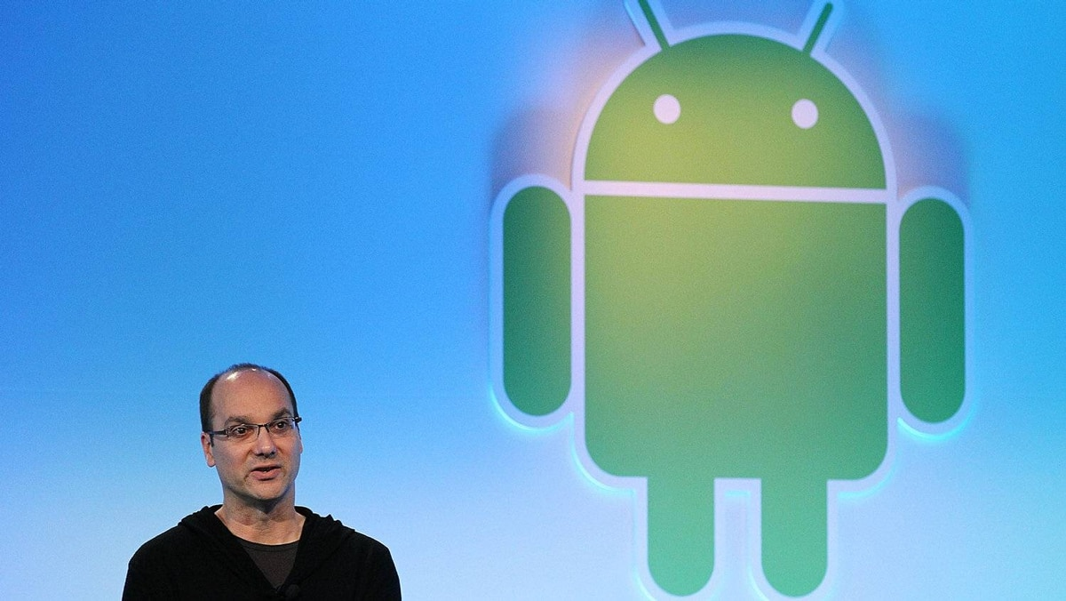 Google's vice president of engineering Andy Rubin speaks during a press event at Google headquarters on February 2, 2011 in Mountain View, California.