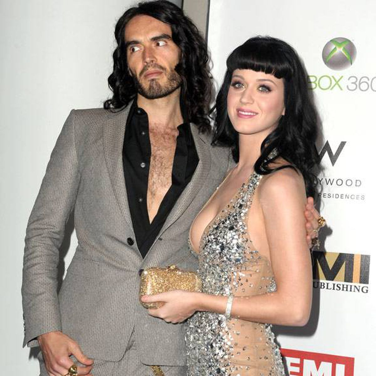 Russell Brand and Katy Perry at the 2010 EMI Grammy party. Michael Buckner/Getty Images
