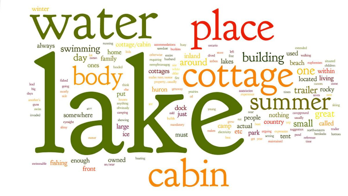 """Word cloud for reader responses to """"the lake."""""""