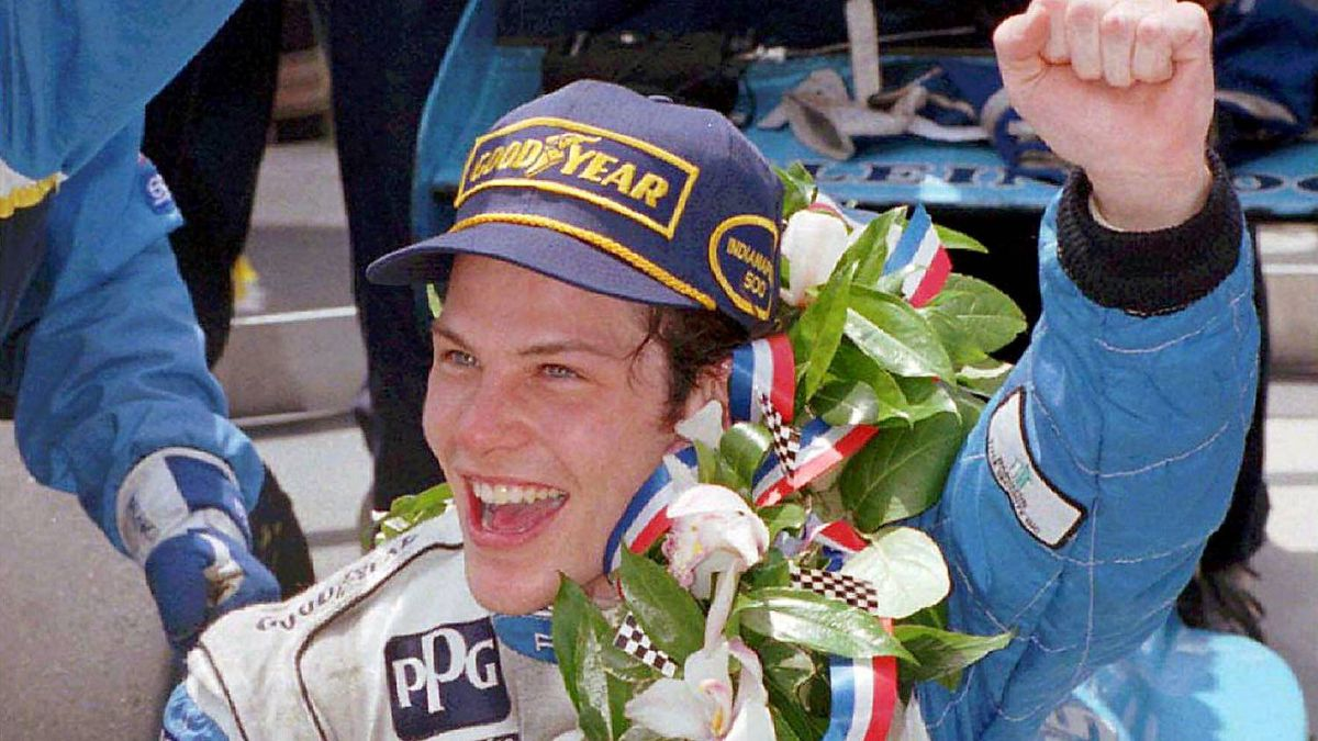 (Jacques Villeneuve holds the winner's bottle of milk in Victory Lane after winning the Indianapolis 500 Sunday, May 28, 1995, in Indianapolis. Villeneuve won the Lou Marsh Trophy, a Toronto Star award recognizing the most outstanding athlete of the year.