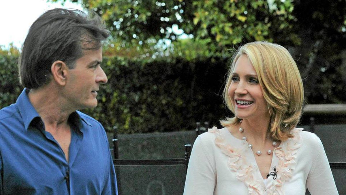 Andrea Canning talks to Charlie Sheen in Los Angeles, Feb. 26, 2011.