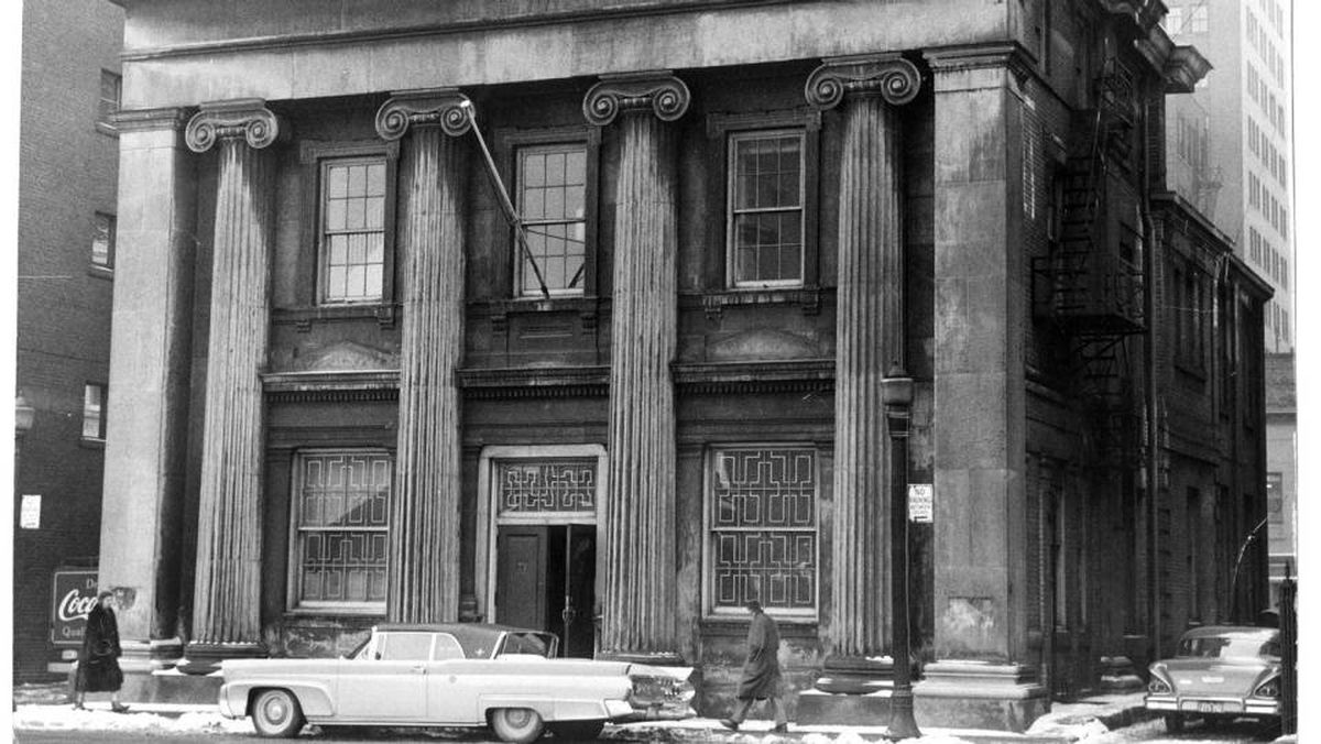 The Former Bank of Canada building at 10 Toronto Street was purchased by Argus Corp., which Conrad Black took control of in 1978. It then became offices for Hollinger Inc. after Argus Corp. was folded into Lord Black's new conglomerate.