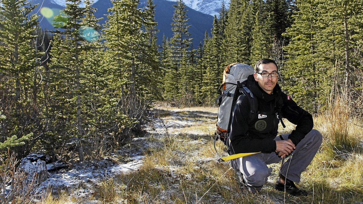 Marc D'Astous,Veterans Program Manager for Outward Bound Canada. D'Astous a former Canadian solider runs a Outward Bound program in Canmore for Veterans, helping them bond and work out their psychological issues in a Canmore-area wilderness setting.