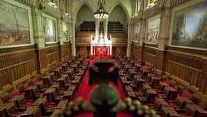The Senate chamber sits empty on in Ottawa on Jan. 13, 2011.