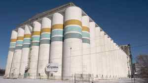 A Viterra grain storage facility in Saskatoon.