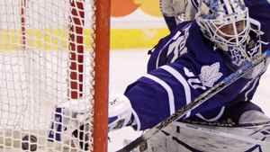 Maple Leafs' Jonas Gustavsson is one of six Toronto goaltenders who could see preseason action. THE CANADIAN PRESS/Darryl Dyck