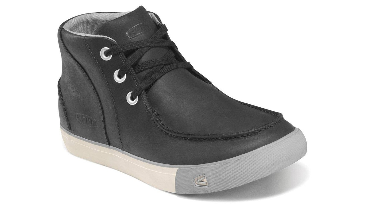 A stylish tread Keen's Timmons Chukka provides a comfortable tread on deck or on shore. Waterproof nubuck leather uppers give them a dressier look than a typical mid-top canvas sneaker, while removable memory foam insoles provide added cushioning on long walks. $130; keenfootwear.com