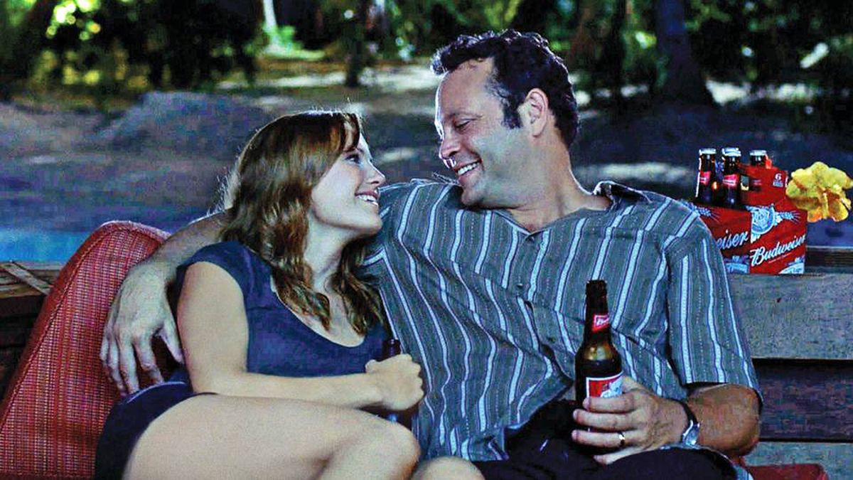 Malin Akerman and Vince Vaughn star in Couples Retreat, a comedy about four Midwestern couples who take a holiday on a tropical island resort. Sunshine and therapy ensue.