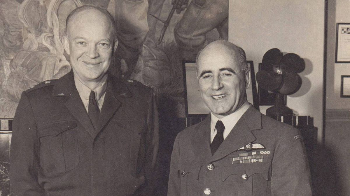 Dwight Eisenhower asked to meet the photographer and autographed the picture.