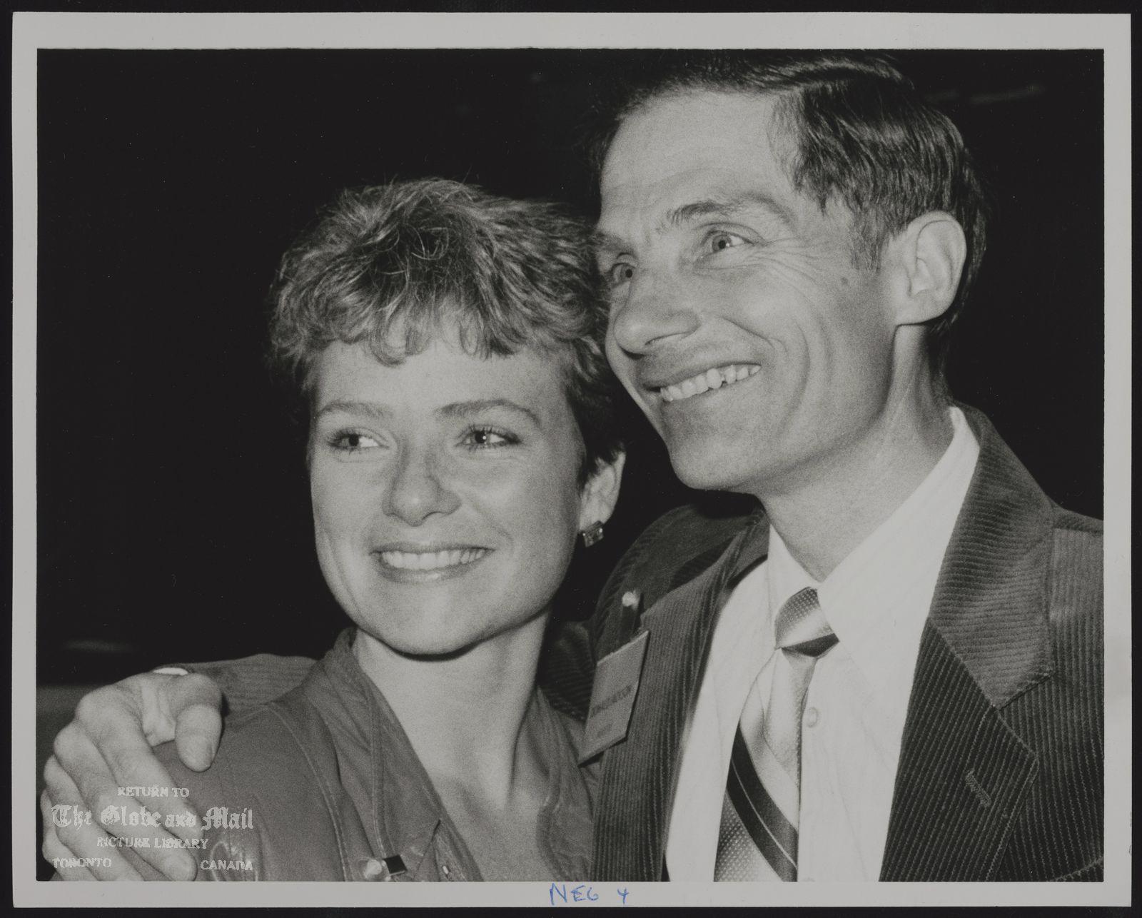 BARBARA UNDERHILL Figure skater Barbara Underhill with Donald Jackson.