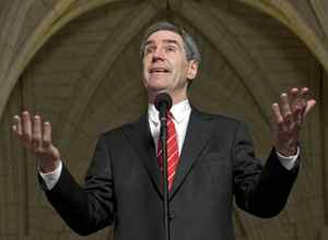 Liberal Leader Michael Ignatieff announces his decision to support Conservative legislation on HST after a special party caucus meeting on Tuesday, December 1, 2009.