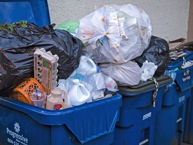 Don't toss recycling in the garbage