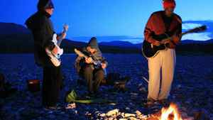 "Shad (right) and The Besnard Lakes in a scene from ""The National Parks Project"""