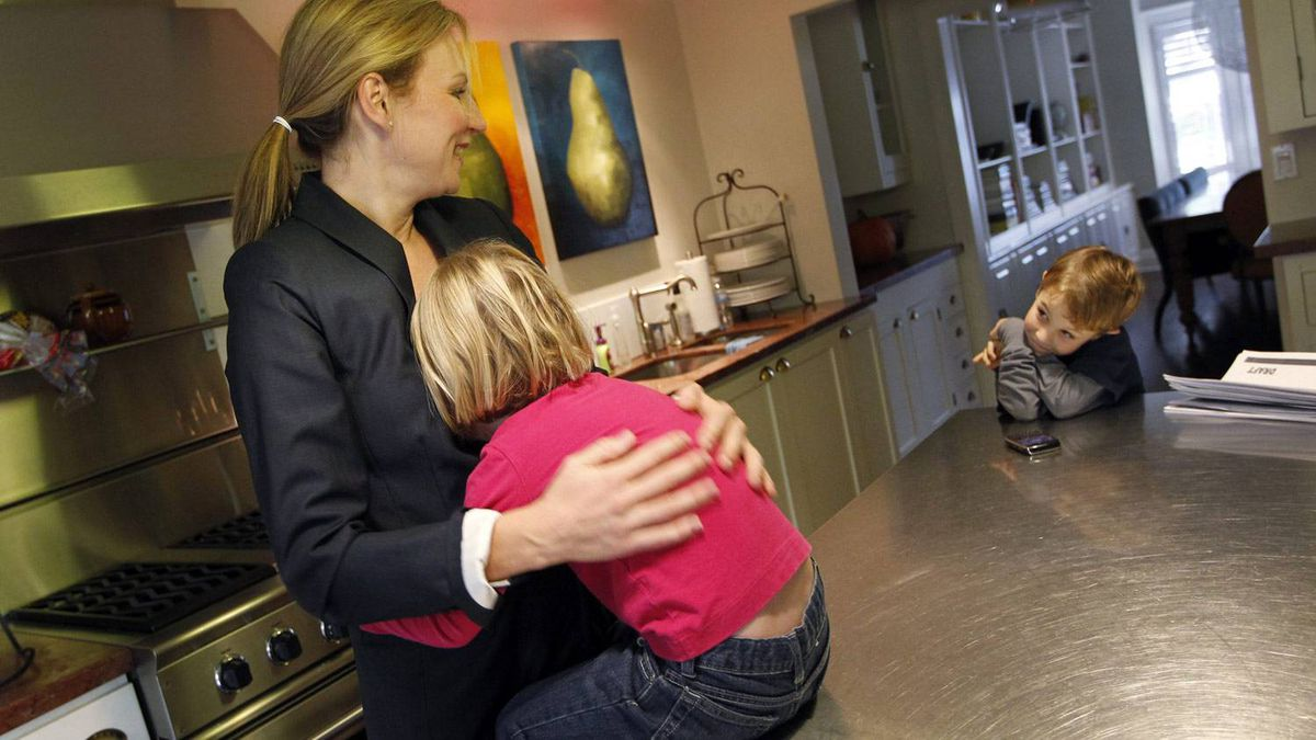 """SUSAN WITTEVEEN: Managing director of a bank. Married. Three kids. """"I have been known to mix 'business with pleasure' and as a result have had my kids too close during important conference calls and have inadvertently yelled into the phone, 'Don't wrestle her like that ... she's a baby and you are choking her to death!'"""""""