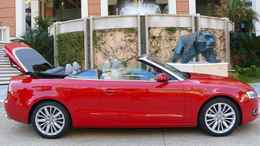 The fabric top on the 2010 A5 Cabriolet keeps the weight down and the cargo space up.