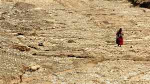 An indigenous woman crosses a riverbed of an intermittent Andean river south of La Paz, Bolivia on Friday, March 17, 2006. The world must act now to head off water wars in developing nations, where the resource has become so scarce, polluted or threatened that people are willing to fight over it, activists at a protest forum outside the 4th World Water Forum said Friday.(AP Photo/Dado Galdieri)