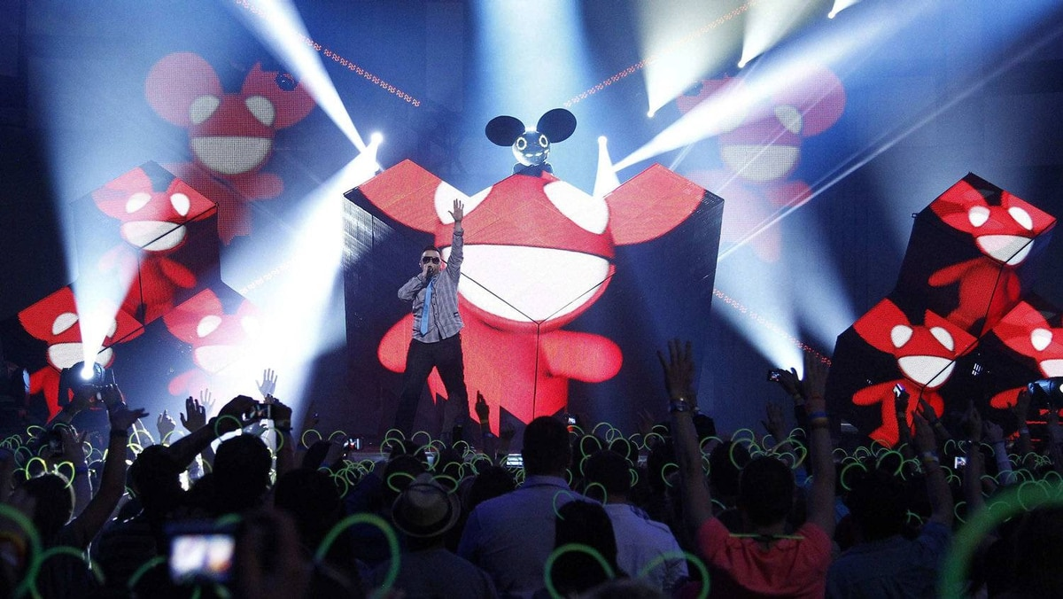 Recording artist 'deadmau5' performs during the 41st Juno Awards in Ottawa April 1, 2012.