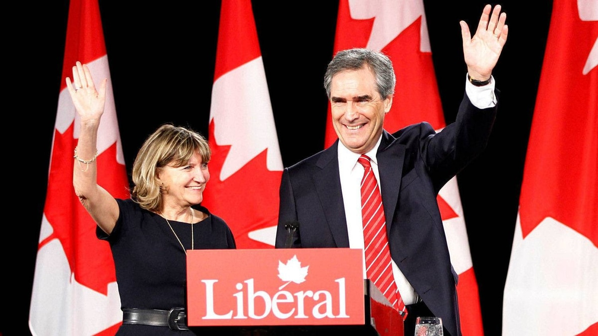 Michael Ignatieff, with his wife Zsuzsanna Zsohar, speaks to his supporters in the Grand Ballroom at the Sheraton Centre in Toronto on May 2, 2011.