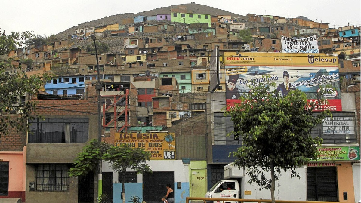 A view of a part of the Comas district of Lima Feb. 10, 2012.