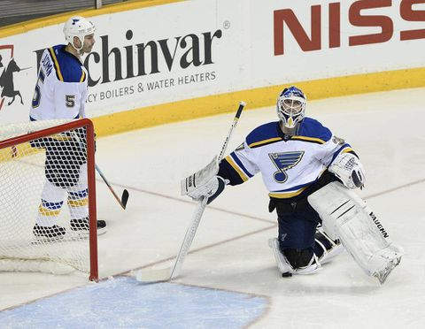 Predators beat Blues spoiling Brodeur's debut