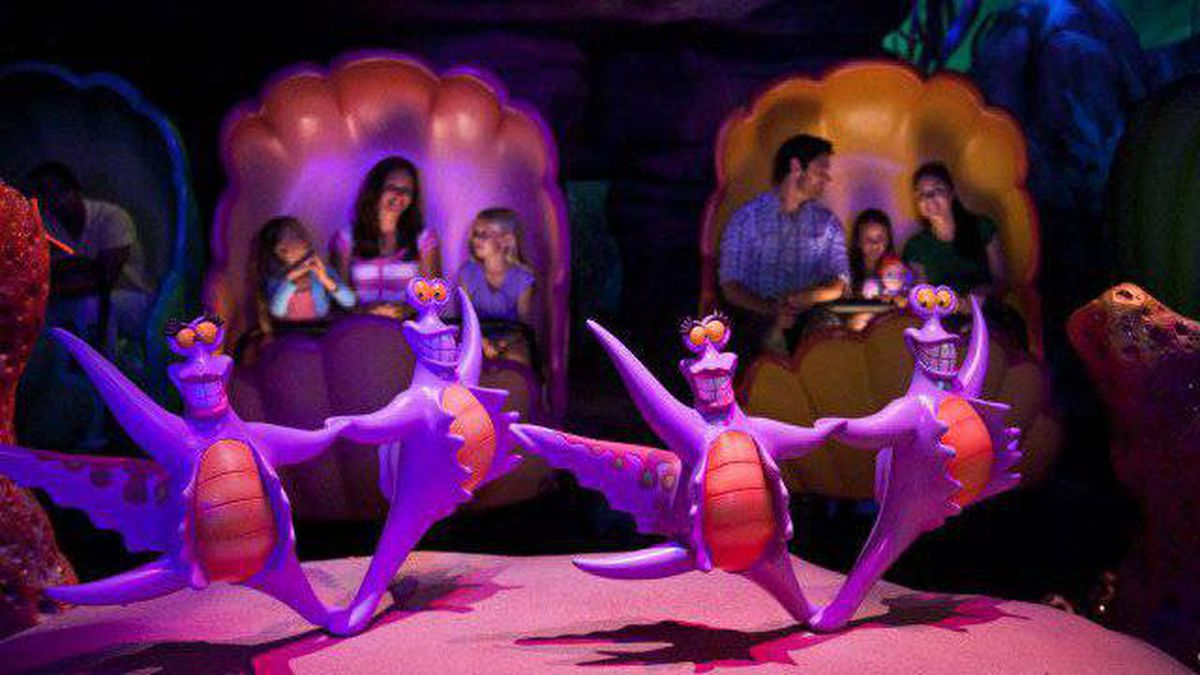 On Disneyland's The Little Mermaid: Ariel's Undersea Adventure, all ages relished the escapism of travelling inside giant seashells, singing along to Under the Sea with animatronic figures.