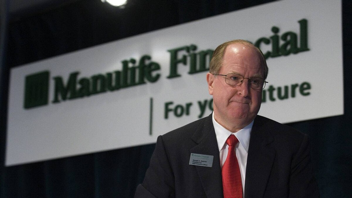 Manulife Financial President and CEO Donald Guloien stands before speaking at their Annual Meeting of Shareholders in Toronto May 5, 2011.