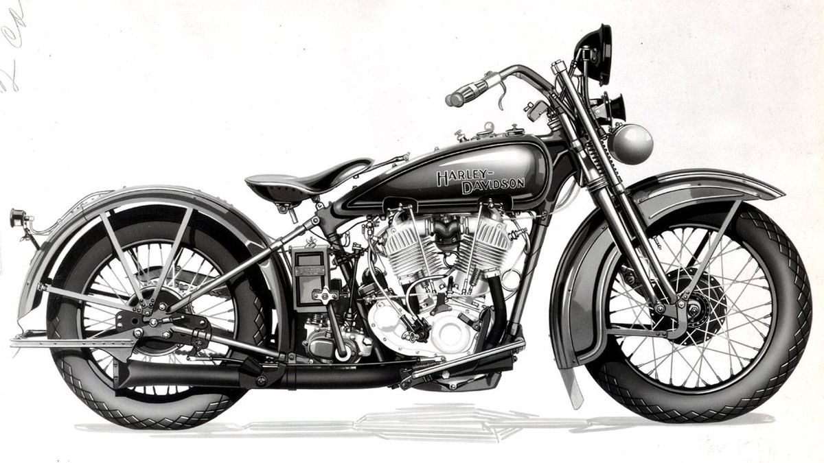The first Harley-Davidson two-cam engine is made available to the public on the JD series motorcycles in 1928. The bike was capable of top speeds between 85 - 100 mph.