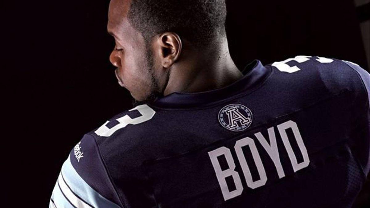 Cory Boyd shows off the new Argonaut uniform.