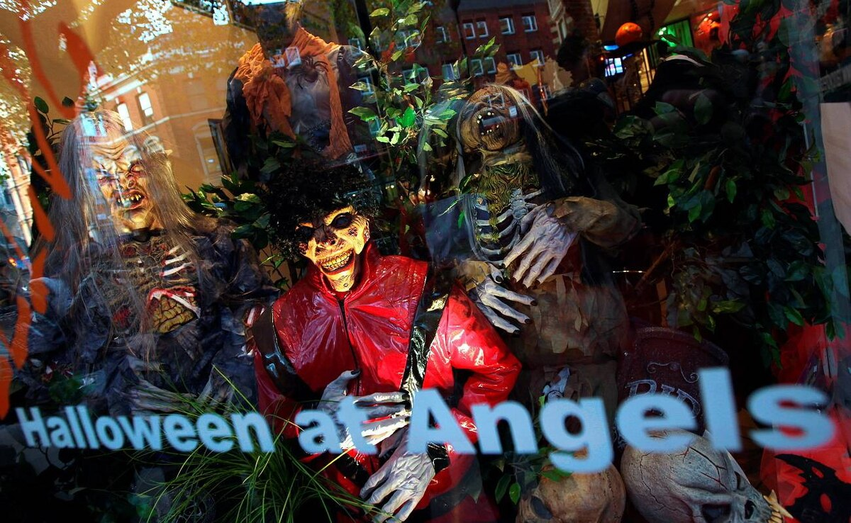 Angels Costumiers Prepare For Halloween Party Goers