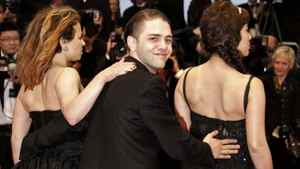 Xavier Dolan, seen here between actresses Suzanne Clement (L) and Mylene Jampanoi, at the Cannes film festival in Cannes, France, on May 20, 2012.