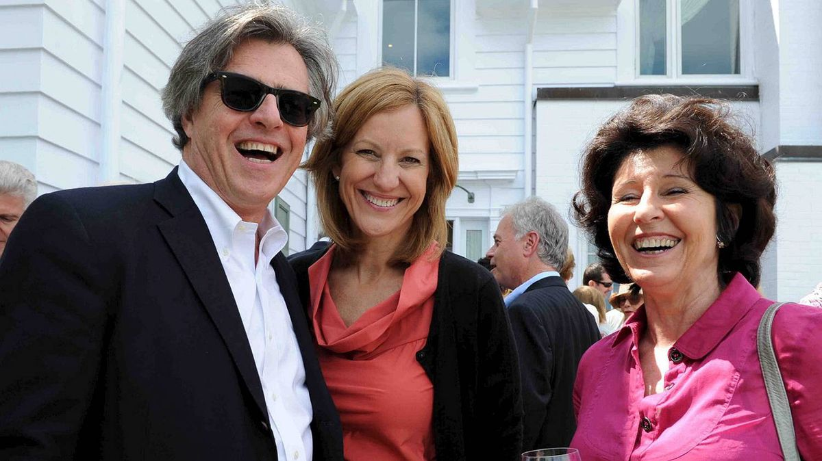 Douglas Knight, Martha Durdin and Adrian Macdonald at the Walrus Foundation Garden party.