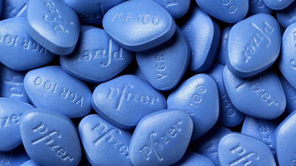 Viagra pills made by Pfizer.