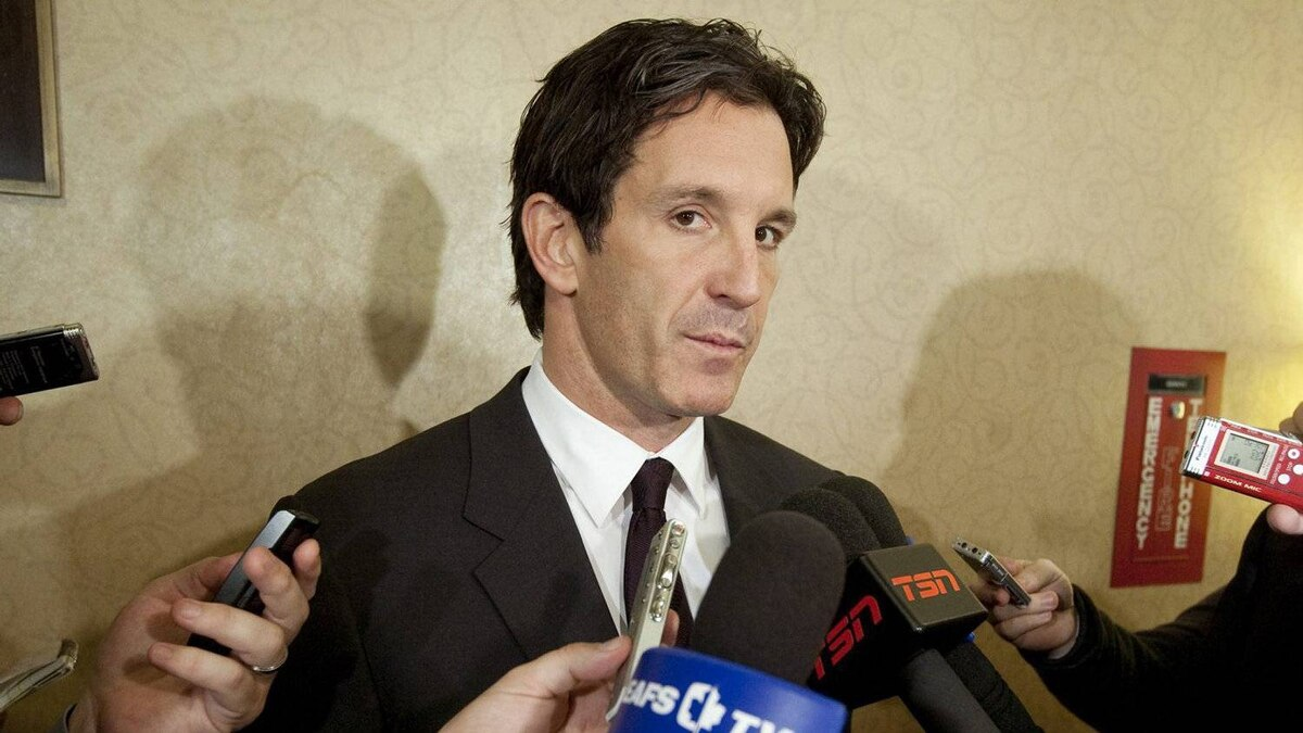 NHL vice president of hockey and business development Brendan Shanahan speaks to reporters during the NHL General Managers' annual fall meeting in Toronto, Ont. Tuesday, November 9, 2010.