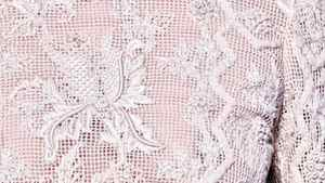 """PORCELAIN-INSPIRED DETAILS Giambattista Valli's garland embroidery and the smoked-crepe dress at Valentino boasted """"biscuit"""" detailing and """"Sèvres"""" inspiration. A bonus? On fabric, such delicately sculpted detailing is not prone to breakage."""