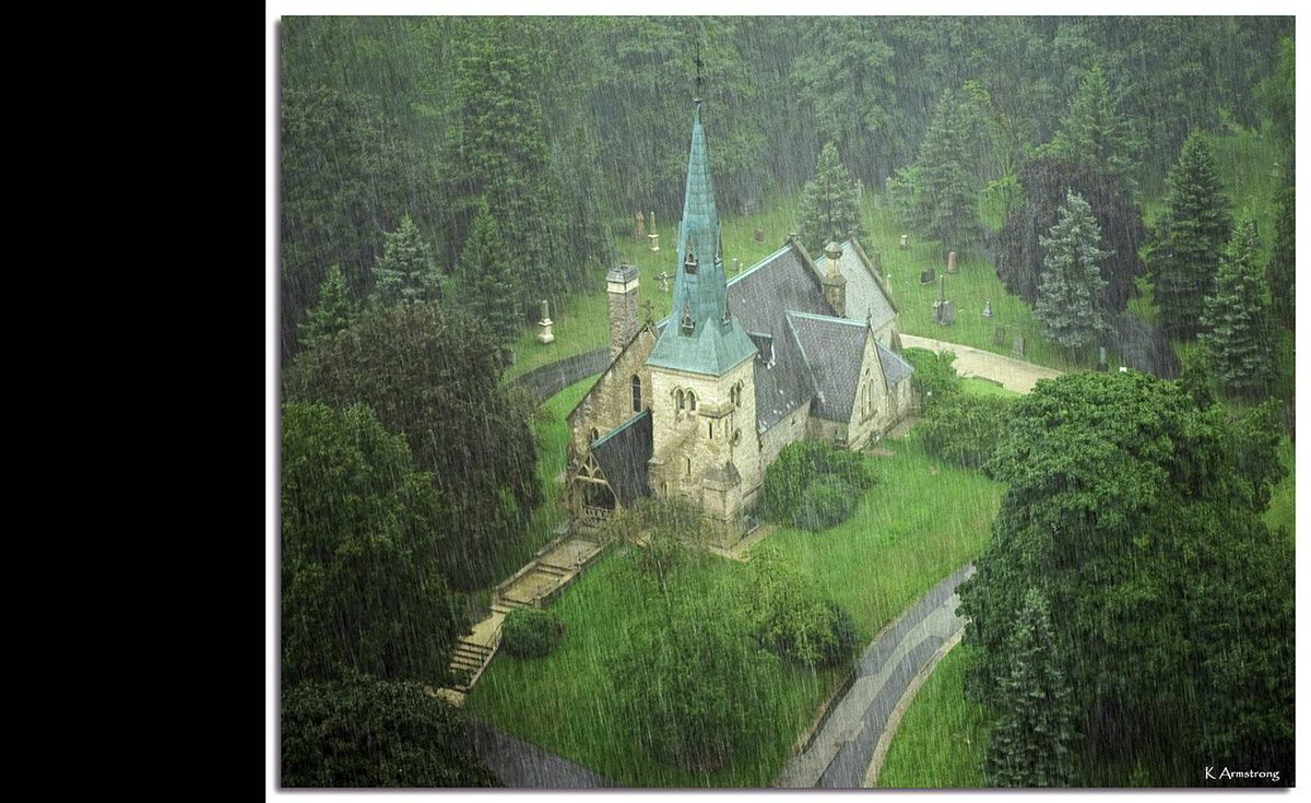 Keith Armstrong (http://www.flickr.com/photos/armstrongone/ ) uploaded this image of the Chapel of St. James-the-Less, in Toronto's Cabbagetown