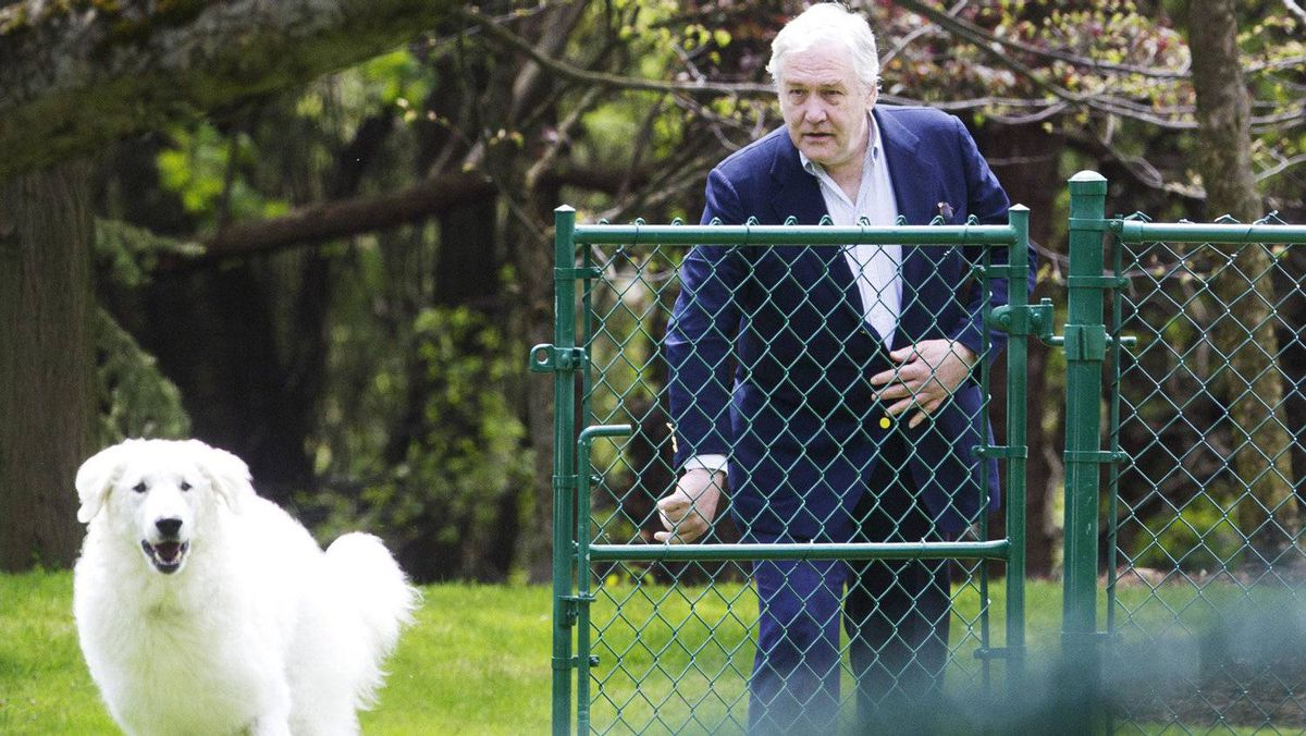 Former media mogul Conrad Black arrives at his home in Toronto, May 4, 2012.