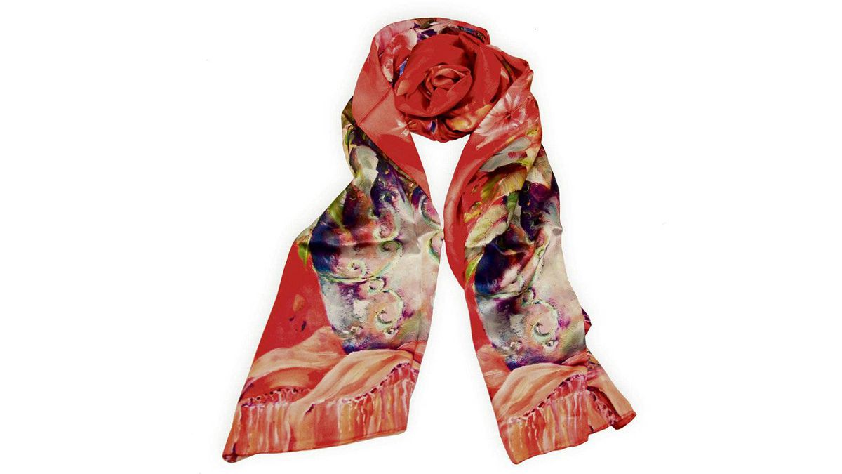 Every outfit becomes a knockout with a vibrantly patterned scarf to set it off. 100-per-cent silk scarf in a variety of prints, $225 at Kumari's. kumaris.ca