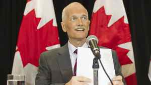New Democratic Party (NDP) leader Jack Layton speaks at a news conference in Toronto, July 25, 2011.