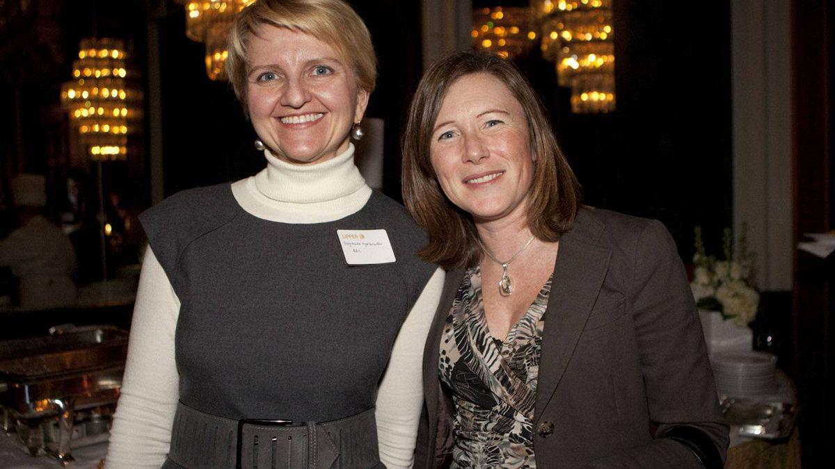 Lipper Award recipients Dagmara Fijalkowski, left, and Jennifer McClelland of RBC Global Asset Management.