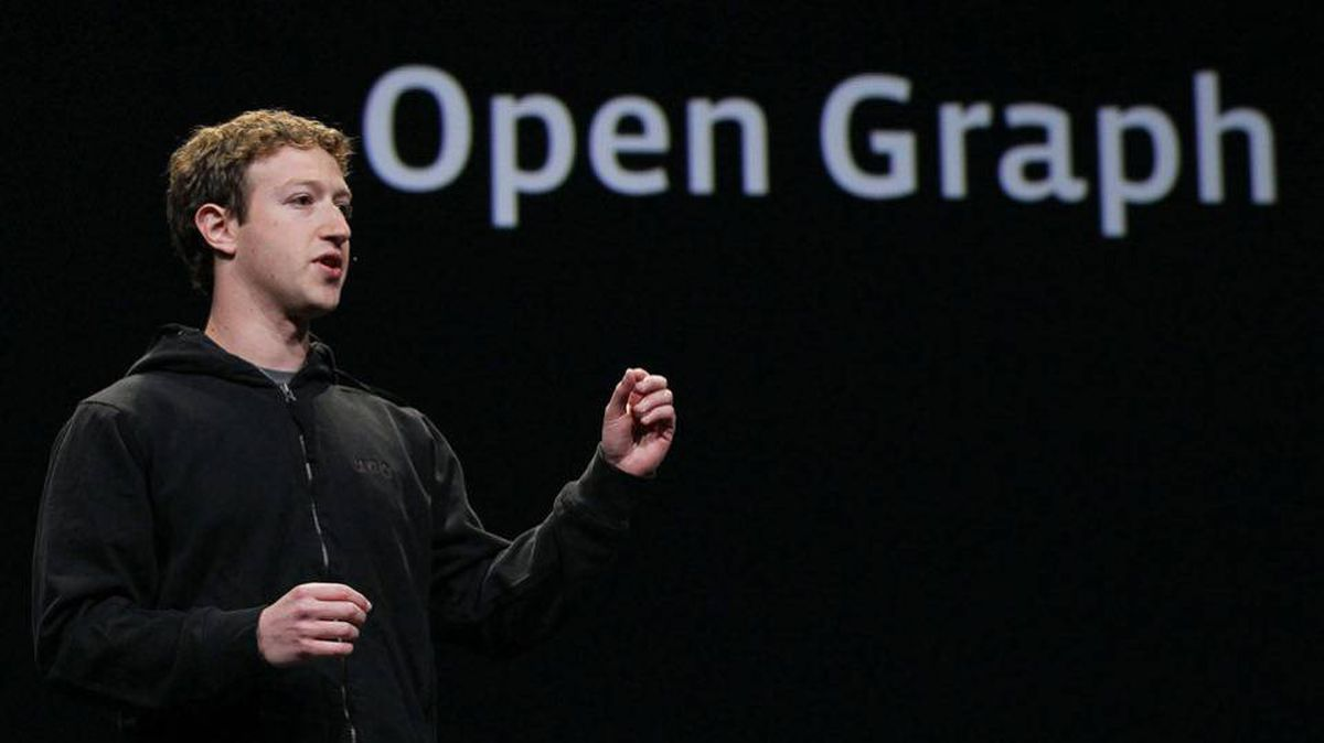 Facebook founder and CEO Mark Zuckerberg delivers the opening keynote address at the f8 Developer Conference April 21, 2010 in San Francisco.