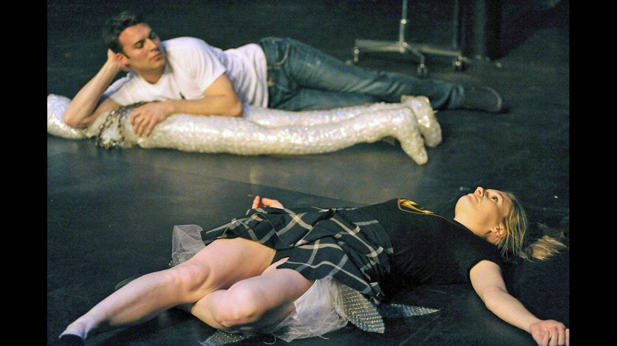 Peter Mooney and Janet Porter in Gruesome Playground Injuries.