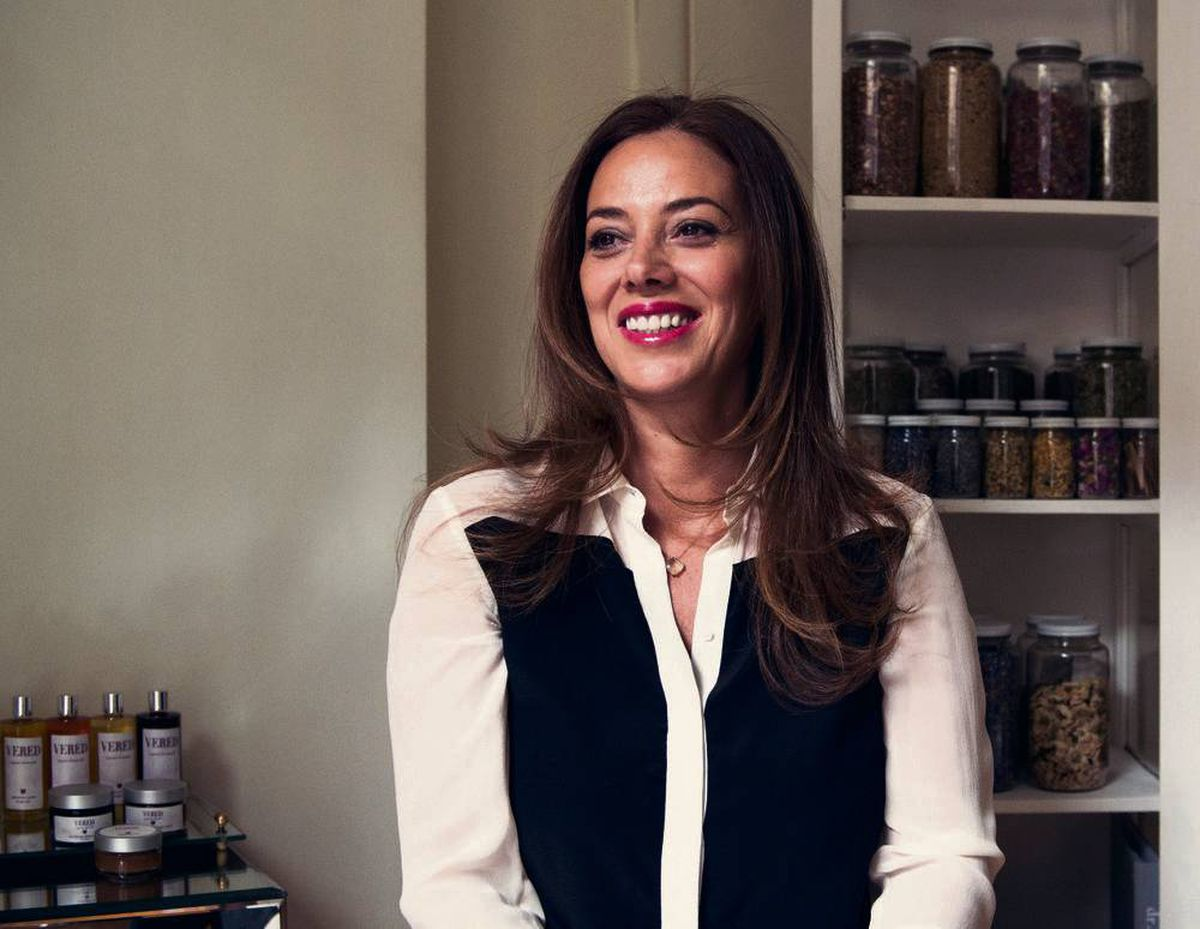 Known as Angel Hands in her native Israel, Vered Back now lives in New York. Her organic skin-care products are made by hand in
