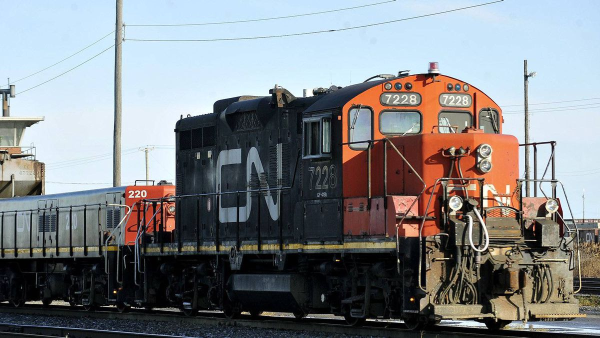 File photo of a CN locomotive in Montreal.