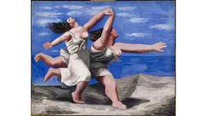 Two Women Running on the Beach (1922)