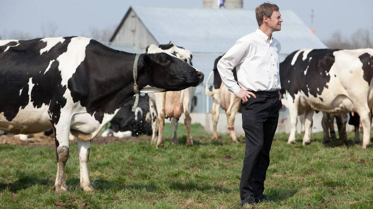 Organic Meadow co-operative's Ted Zettel at a member farm in Cambridge, Ont.