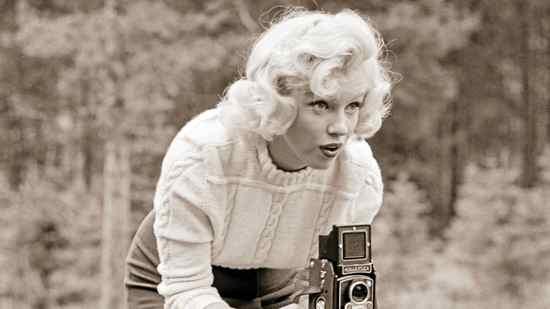 John Vachon, Untitled (Marilyn with Camera), 1953.