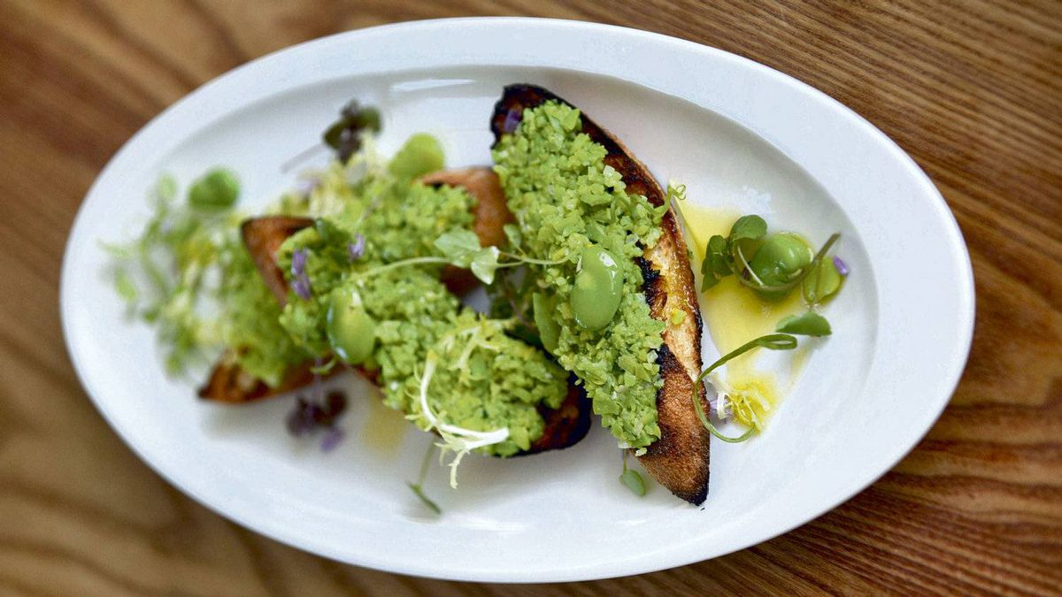 Keith Frogett's fava bean concasse