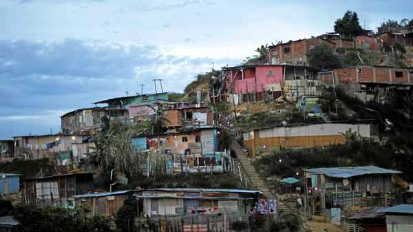The slum of Las Mayas in Caracas on May 26, 2011. The housing shortfall in Venezuela currently sits at 2 million units.