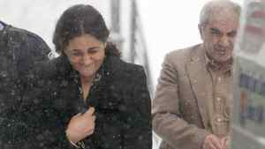 Tooba Yahya and Mohammad Shafia leave the Frontenac county courthouse in Kingston Ontario on Friday Jan. 13, 2012.