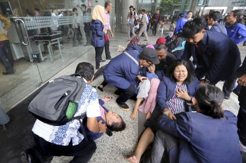 Jakarta stock exchange ceiling collapse: Dozens hurt in chaotic scenes in Indonesia
